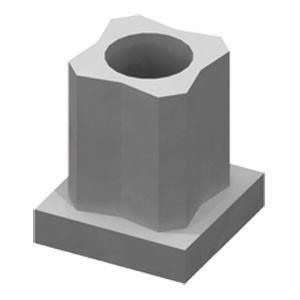 Крепеж-заглушка РР2525 цинк (100)