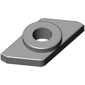 Гайка флажковая SNM5 цинк (100)