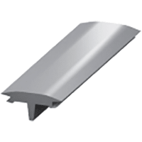 Профиль-заглушка декоративная CS 10 ПВХ серый (100)