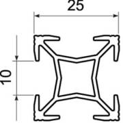 Профиль универсальный 5,6м РU2525 алюминий (20)