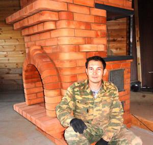 Уличный комплекс: русская печь, мангал, казан