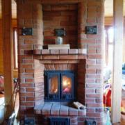 Каминопечь с теплоотдачей до 5 кВт.