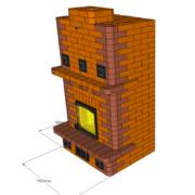 Каминопечь с теплоотдачей до 4 кВт. Для отопления дома до 55 м2