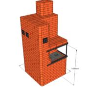 Отопительно-варочная печь с духовкой теплоотдачей до 4,3 кВт. Подойдёт для отопления дома до 50 м2