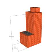 Отопительно-варочная печь с теплоотдачей до 3,5 кВт.