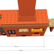 Уличный комплекс состоящий из печи с плитой и возможностью установки казана, коптилки, русской печи, тандыра, мангала, мойки и столешницы.