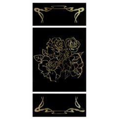 Шаблон для изготовления витражей в векторном формате Розы