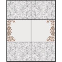Шаблон для изготовления витражей в векторном формате Кудри