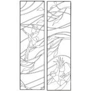 Шаблон для изготовления витражей в векторном формате Птицы