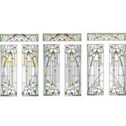 Шаблон для изготовления витражей в векторном формате Каллы