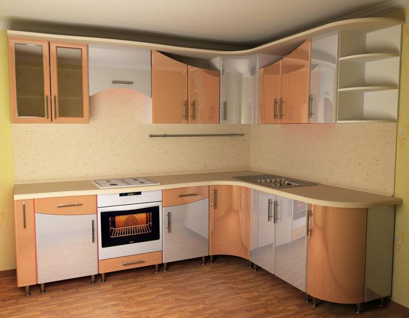 проект кухни с фасадом постформинг