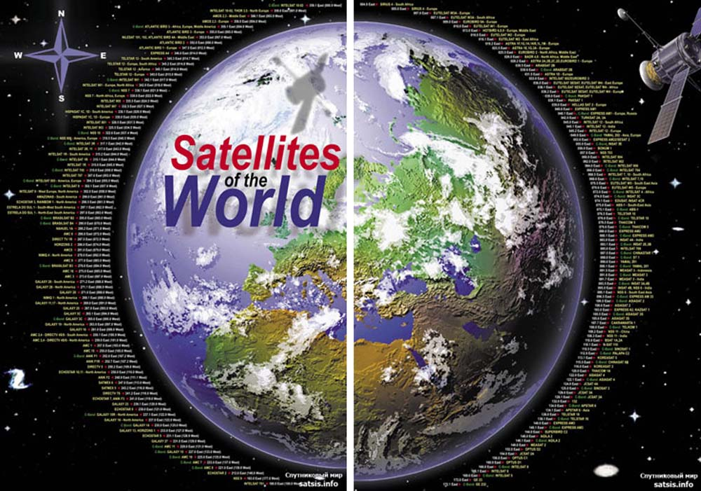 огромное количество телевизионных спутников находится на орбите земли