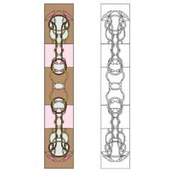 Шаблон для изготовления витражей в векторном формате Занавеска