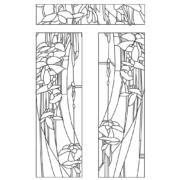 Шаблон для изготовления витражей в векторном формате Болото