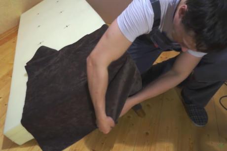 Обивка сидения и спинки тканью