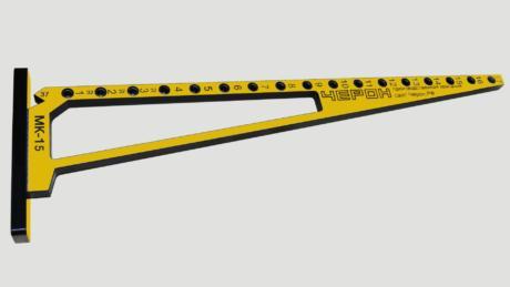 """Мебельный кондуктор МК-15 """"угольник"""" система «32» диаметр втулки 7 мм"""