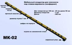 Мебельный кондуктор МК-02 шаг 25/50 диаметр втулки 7 мм