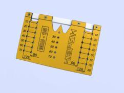 Шаблон МШ-05 для разметки отверстий под мебельные ручки-кнопки и ручки-скобы (96мм и 128мм)
