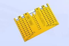 Шаблон МШ-22 для разметки отверстий под мебельные ручки-кнопки и ручки-скобы